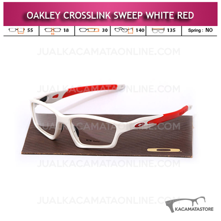 Jual Frame Kacamata Oakley Crosslink Sweep White Red