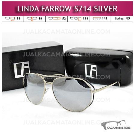 Jual Kacamata Artis Linda Farrow S714 Silver