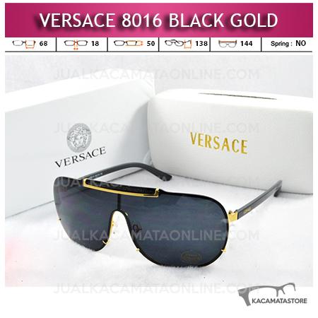 Jual Kacamata Artis Versace 8016 Black Gold