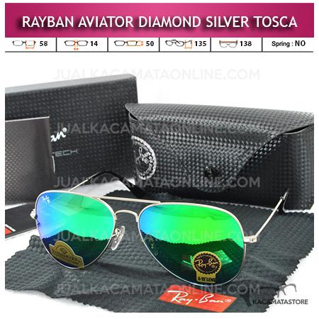Jual Kacamata Rayban Aviator Diamond Silver Tosca Lens