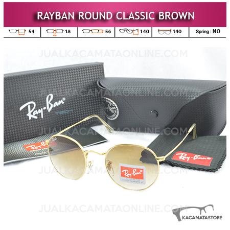 Kacamata Rayban Round Classic Brown