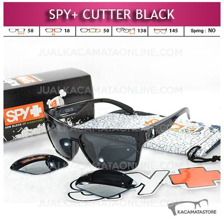 Model Kacamata Spy Cutter 2 Lensa Black