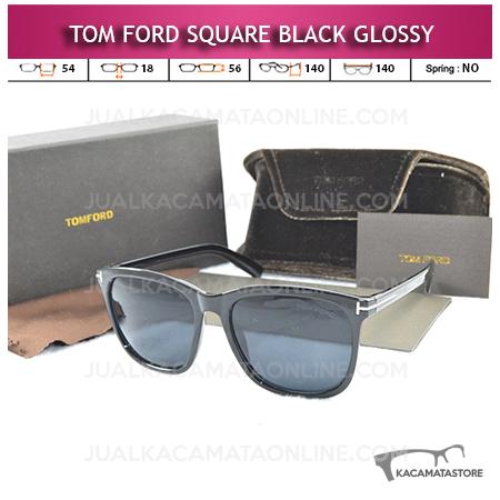 Kacamata Tom Ford Square Black Glossy