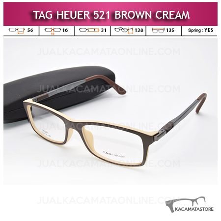 Frame Kacamata Tag Heuer 521 Brown Cream