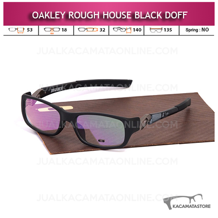 Jual Frame Kacamata Oakley Rough House Black Doff