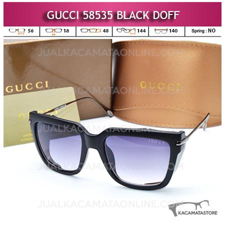 Model Kacamata Artis Gucci 58535 Black Doff