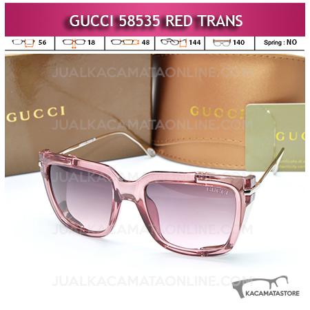 Jual Kacamata Artis Gucci 58535 Red Trans