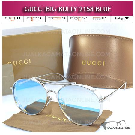 Model Kacamata Artis Gucci Big Bully 2158 Blue