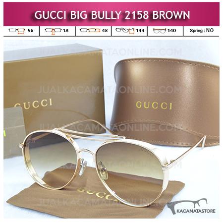 Jual Kacamata Artis Gucci Big Bully 2158 Brown