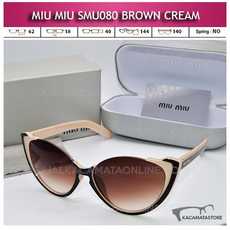 Grosir Kacamata Artis Miu Miu SMU080 Brown Cream
