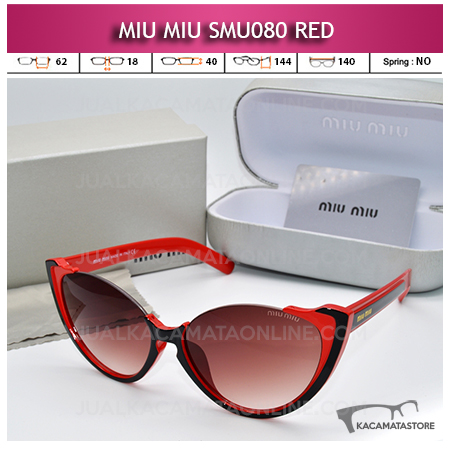 Jual Kacamata Artis Miu Miu SMU080 Red