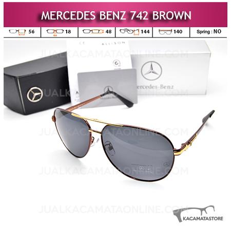 Toko Kacamata Mercedes Benz 742 Brown Kacamata Pria Terbaru