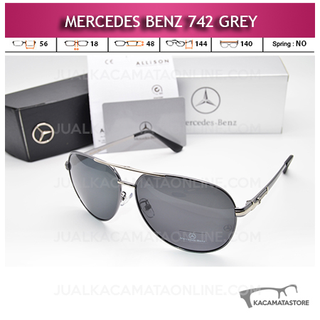 Model Kacamata Mercedes Benz 742 Grey Kacamata Pria Terbaru