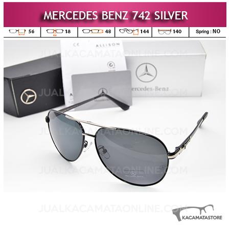 Jual Kacamata Mercedes Benz 742 Silver Kacamata Pria Terbaru