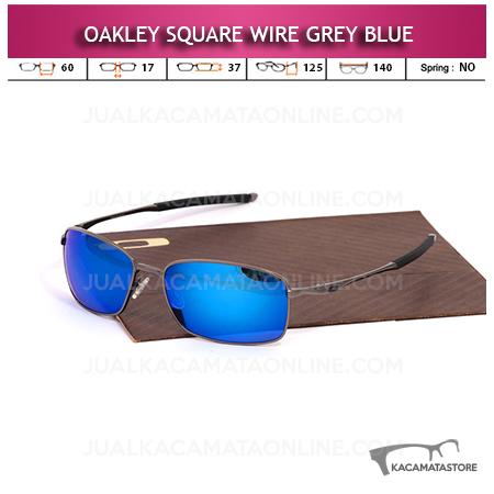 Kacamata Oakley Square Wire Grey Blue