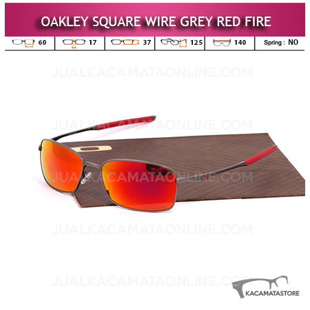 Jual Kacamata Oakley Square Wire Grey Red Fire
