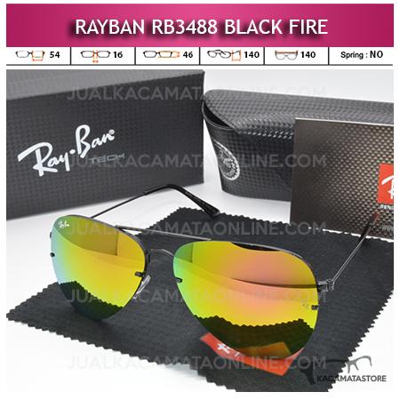 Jual Kacamata Rayban Aviator Rb3488 Black Fire