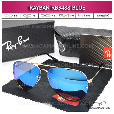 Jual Kacamata Rayban Aviator Rb3488 Blue
