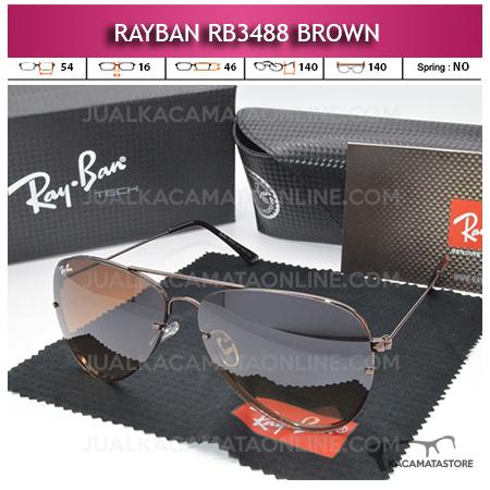 Harga Kacamata Rayban Aviator Rb3488 Brown