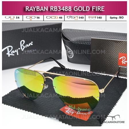 Toko Kacamata Rayban Aviator Rb3488 Gold Fire