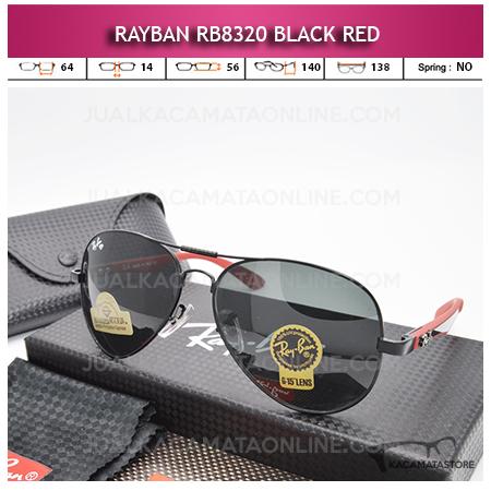 Jual Kacamata Rayban Aviator Rb8320 Black Red