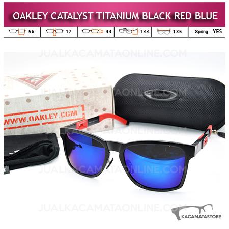 Kacamata Oakley Catalyst Titanium Black Red Blue