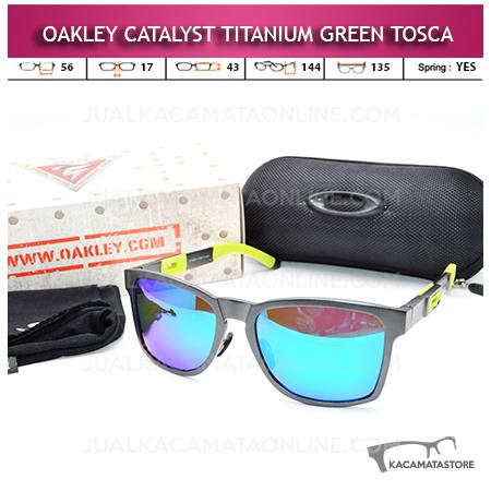 Kacamata Oakley Catalyst Titanium Grey Green Tosca