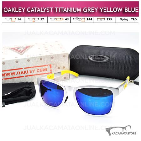 Kacamata Oakley Catalyst Titanium Yellow Blue