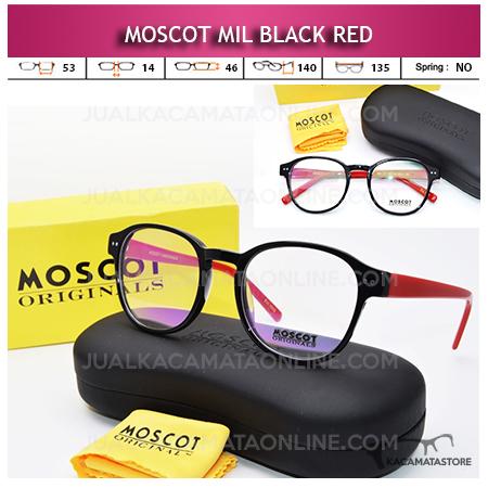 Jual Frame Kacamata Baca Moscot Mil Black Red