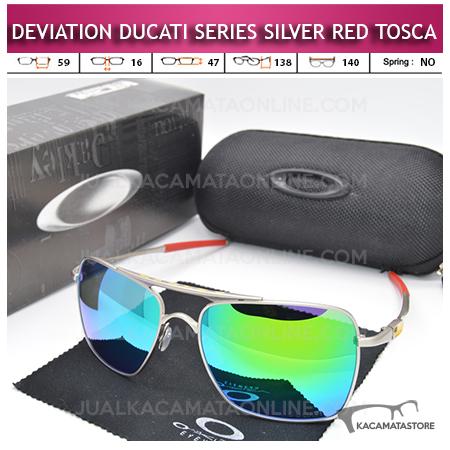 Jual Kacamata Oakley Deviation Ducati Series Silver Red Tosca