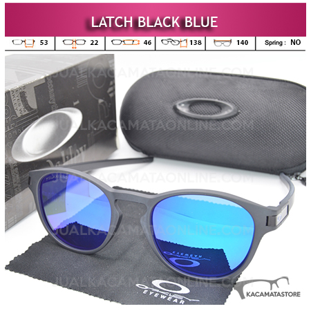 Kacamata Polarized Oakley Latch Black Blue