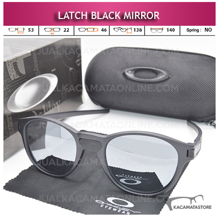 Kacamata Polarized Oakley Latch Black Mirror