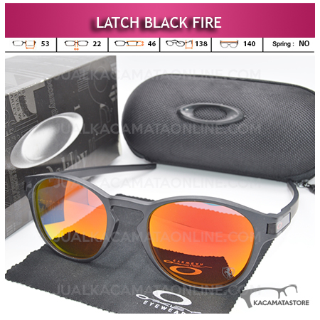 Kacamata Polarized Oakley Latch Black Red