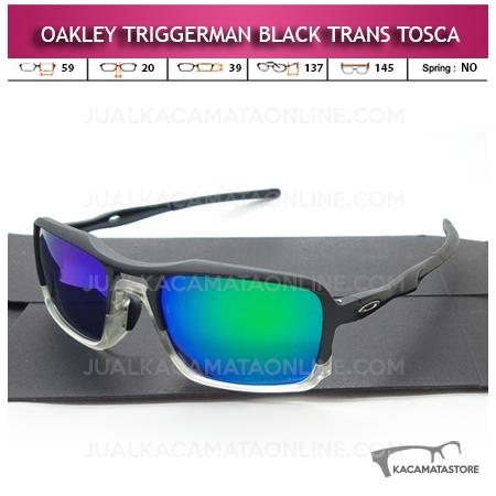 Moedl Kacamata Oakley Terbaru Trigerman Black Trans Tosca