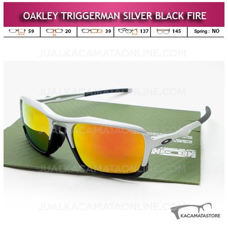 Jual Kacamata Oakley Terbaru Trigerman Silver Black Fire