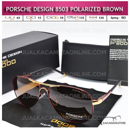 Model Kacamata Polarized Porsche Design P8503 Brown