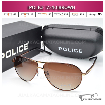 Model Kacamata Police Terbaru 7310 Polarized Brown