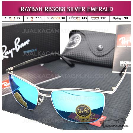 Kacamata Rayban Rb3088 Diamond Silver Emerald