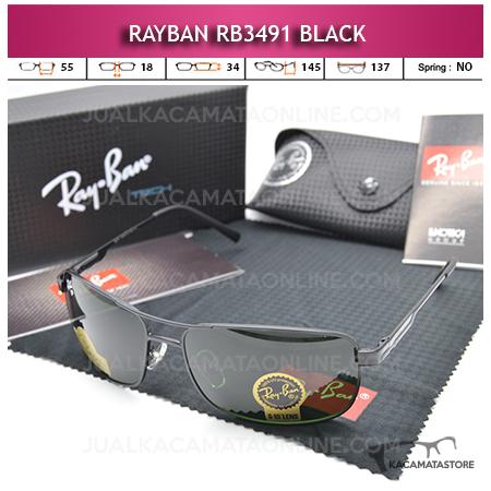 Jual Kacamata Rayban Rb3491 Diamond Black