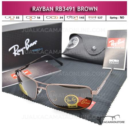 Kacamata Rayban Rb3491 Diamond Brown