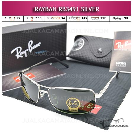 Kacamata Rayban Rb3491 Diamond Silver