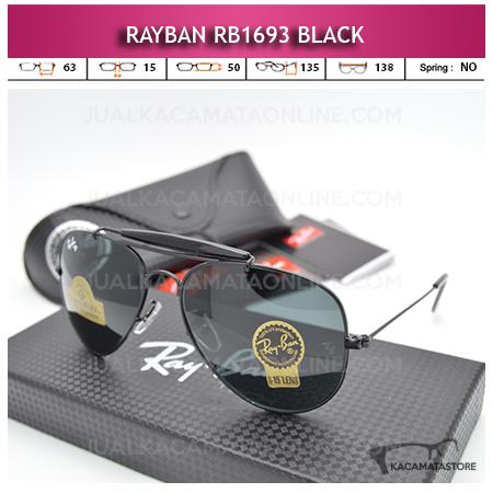Model Kacamata Rayban Rb1693 Diamond Black