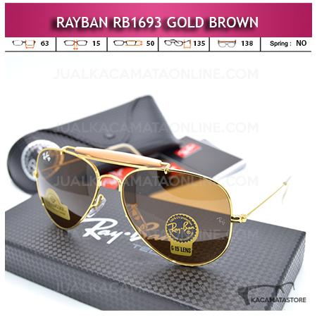 Jual Kacamata Rayban Rb1693 Diamond Gold Brown