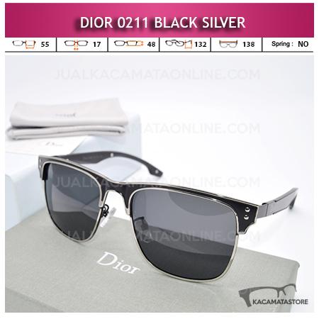 Grosir Kacamata Wanita Dior 0211 Black Silver Model Kacamata Artis Terbaru