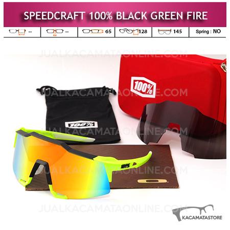 Jual Kacamata Sepeda Speedcraft Black Green Fire