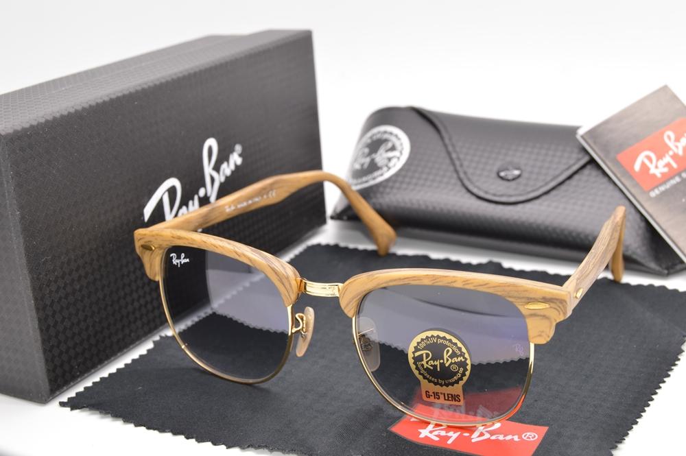 Kacamata Rayban Clubmaster Wood Black