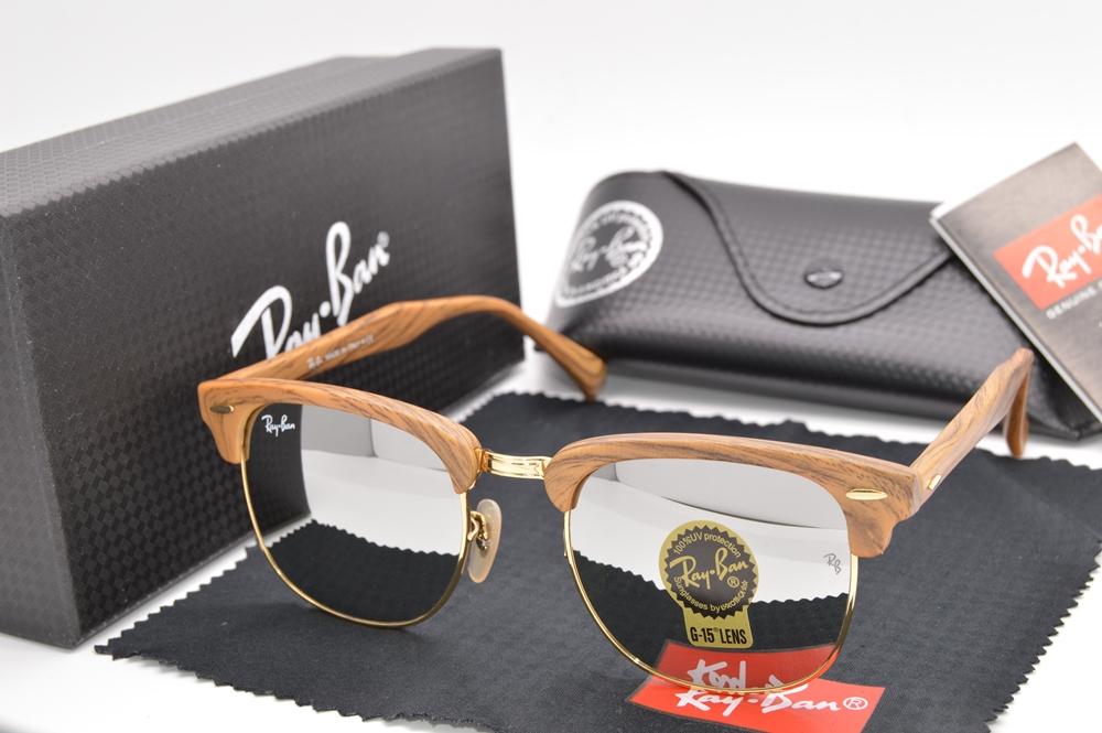 Kacamata Rayban Clubmaster Wood Mirror