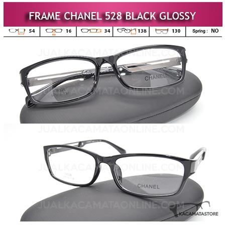 Frame Kacamata Minus Terbaru Chanel 528 Black Glossy