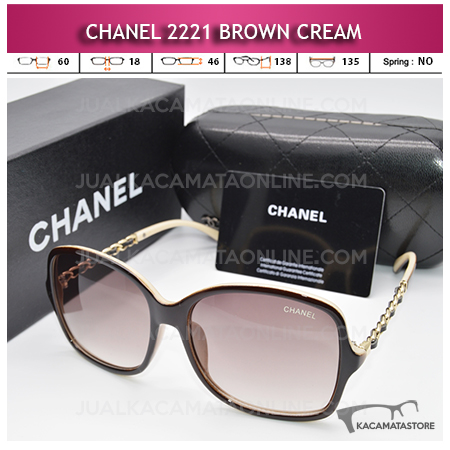 Jual Kacamata Chanel 2221 Brown Cream