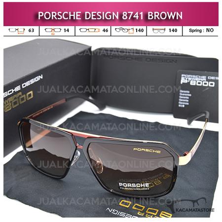 Jual Kacamata Gaya Porsche Design P8741 Polarized Brown